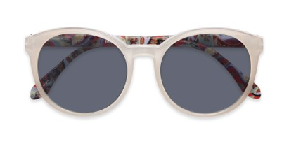 Folded of The Eileen Reading Sunglasses in Grey/Paisley with Smoke