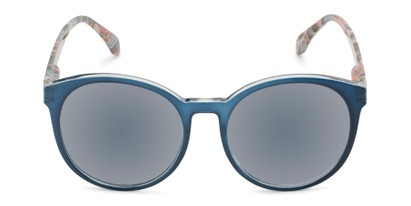 Front of The Eileen Reading Sunglasses in Blue/Paisley with Smoke