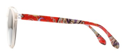 Side of The Eileen Reading Sunglasses in Grey/Paisley with Smoke
