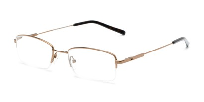 Angle of The Eland Flexible Reader in Bronze, Women's and Men's Rectangle Reading Glasses