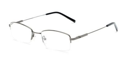 Angle of The Eland Flexible Reader in Gunmetal, Women's and Men's Rectangle Reading Glasses
