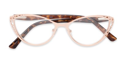 Folded of The Electra in Rose Gold/Brown Tortoise