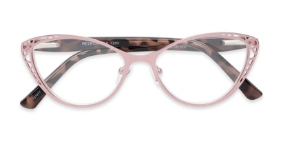 Folded of The Electra in Pink/Pink Tortoise