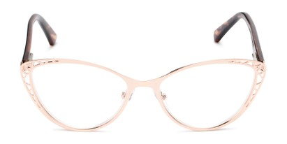 Front of The Electra in Rose Gold/Brown Tortoise