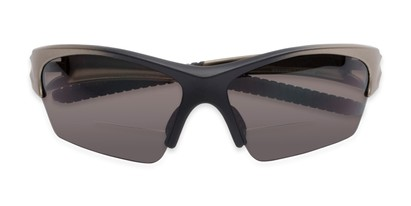 Folded of The Elijah Bifocal Reading Sunglasses in Grey with Smoke