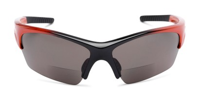 Front of The Elijah Bifocal Reading Sunglasses in Orange with Smoke