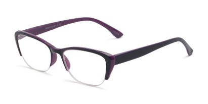 Angle of The Ellery in Purple, Women's Cat Eye Reading Glasses