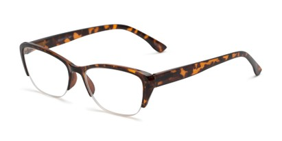 Angle of The Ellery in Tortoise, Women's Cat Eye Reading Glasses