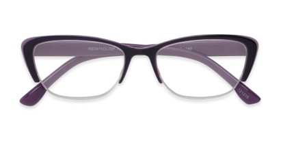 semi rimless cat eye
