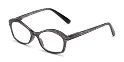 Angle of The Ellie in Black, Women's Cat Eye Reading Glasses