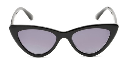 Front of The Elora Reading Sunglasses in Black with Smoke
