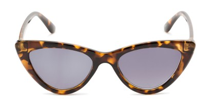 Front of The Elora Reading Sunglasses in Brown Tortoise with Smoke