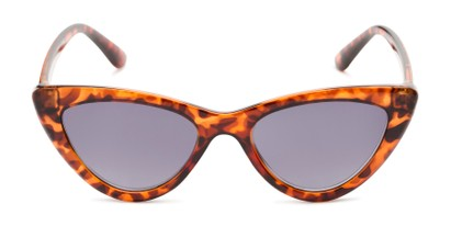 Front of The Elora Reading Sunglasses in Orange Tortoise with Smoke