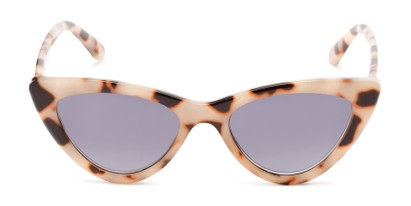 Front of The Elora Reading Sunglasses in Tan Tortoise with Smoke