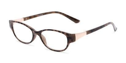 Angle of The Elsie in Brown, Women's Cat Eye Reading Glasses