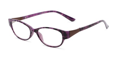 Angle of The Elsie in Purple, Women's Cat Eye Reading Glasses