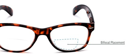 Detail of The Elwood Bifocal in Brown Tortoise