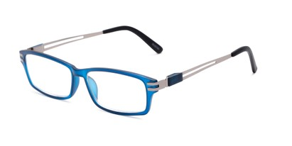 Angle of The Ember in Blue, Men's Rectangle Reading Glasses