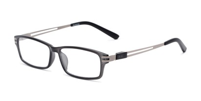 Angle of The Ember in Grey, Men's Rectangle Reading Glasses