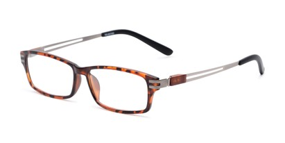 Angle of The Ember in Tortoise, Men's Rectangle Reading Glasses
