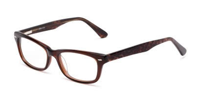 Angle of Emerson by felix + iris in Chocolate Brown Leopard, Women's Retro Square Reading Glasses