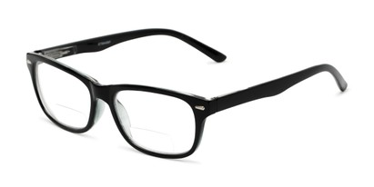 Angle of The Emery Bifocal  in Black, Women's and Men's Rectangle Reading Glasses