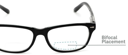 Detail of The Emery Bifocal  in Black