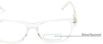 Detail of The Emery Bifocal  in Clear