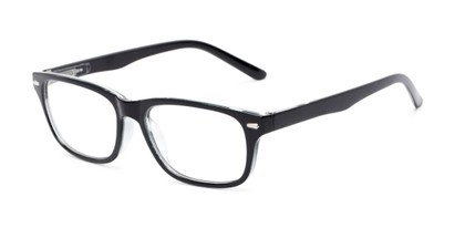 Angle of The Ernest in Black, Women's and Men's Rectangle Reading Glasses