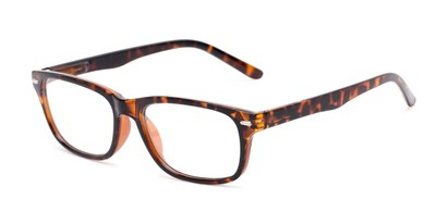 Angle of The Ernest in Tortoise, Women's and Men's Rectangle Reading Glasses