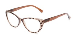 Angle of The Ethel in Brown Leopard, Women's Cat Eye Reading Glasses