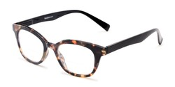Angle of The Etta Bifocal in Tortoise, Women's Cat Eye Reading Glasses