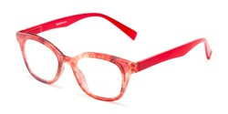 Angle of The Etta Bifocal in Red, Women's Cat Eye Reading Glasses
