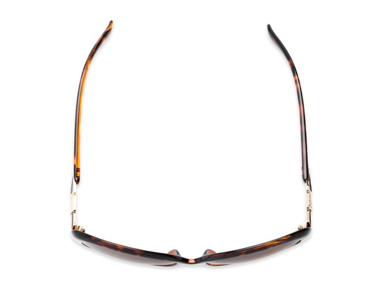 Overhead of The Evelyn Bifocal Reading Sunglasses in Tortoise with Amber