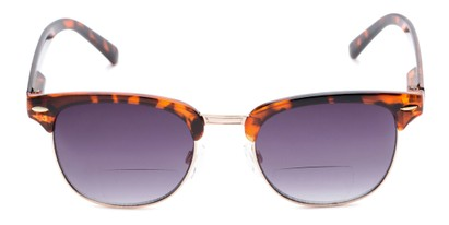 Front of The Everglade Bifocal Reading Sunglasses in Tortoise with Smoke