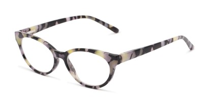 Angle of The Fauna in Purple/Black, Women's Cat Eye Reading Glasses