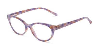 Angle of The Fauna in Purple/Pink, Women's Cat Eye Reading Glasses