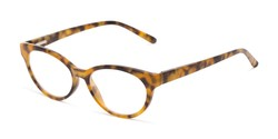 Angle of The Fauna in Tortoise, Women's Cat Eye Reading Glasses