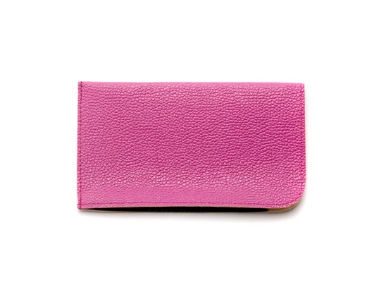 Angle of Faux Leather Expandable Glasses Pouch in Pink, Women's and Men's  Soft Cases / Pouches
