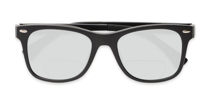 Folded of The Ferris Polarized Magnetic Bifocal Reading Sunglasses in Matte Black with Silver Mirror