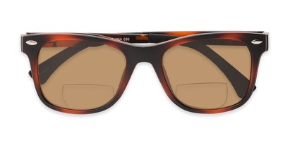 Folded of The Ferris Polarized Magnetic Bifocal Reading Sunglasses in Matte Tortoise with Amber