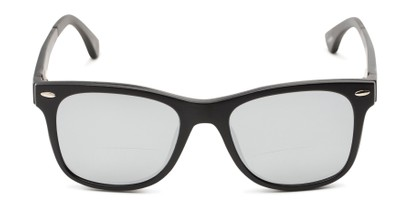 Front of The Ferris Polarized Magnetic Bifocal Reading Sunglasses in Matte Black with Silver Mirror