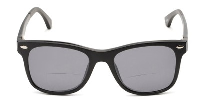 Front of The Ferris Polarized Magnetic Bifocal Reading Sunglasses in Matte Black with Smoke