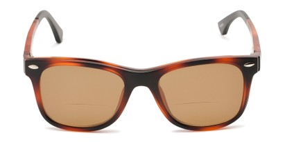 Front of The Ferris Polarized Magnetic Bifocal Reading Sunglasses in Matte Tortoise with Amber