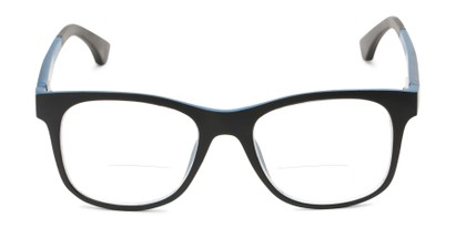 Front of The Ferris Polarized Magnetic Bifocal Reading Sunglasses in Matte Black with Blue Mirror
