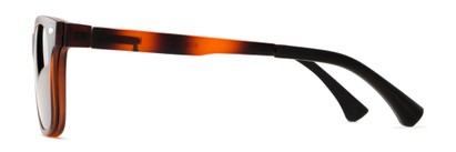 Side of The Ferris Polarized Magnetic Bifocal Reading Sunglasses in Matte Tortoise with Amber
