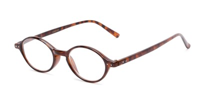 Angle of The Finch in Dark Tortoise, Women's and Men's Oval Reading Glasses