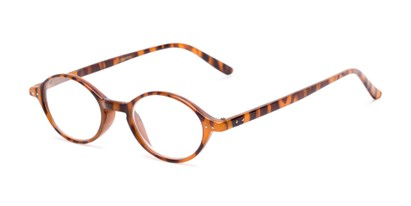 Angle of The Finch in Light Tortoise, Women's and Men's Oval Reading Glasses