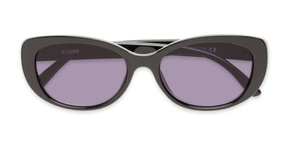 Folded of The Firefly Reading Sunglasses in Black with Smoke