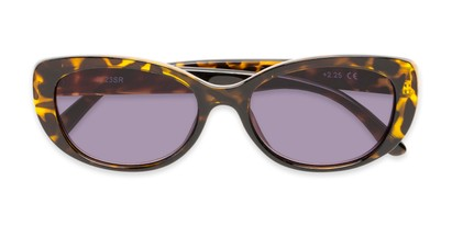 Folded of The Firefly Reading Sunglasses in Yellow Tortoise with Smoke